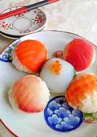 Colorful Bite-Sized Sushi Balls