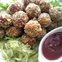 Delicious Deep Fried Pork Meatballs