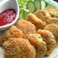 White Sesame & Cheese Coated Chicken Breast Cutlets