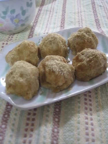 Tofu Mochi with Rice Bran