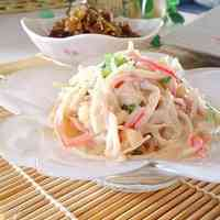 Comforting Enoki Mushrooms and Surimi Salad