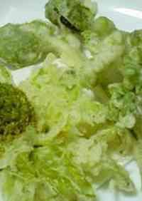 Fukinotou (Butterbur Sprouts) Tempura