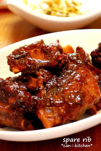 Sweet-Savory Sauce Spareribs in Pressure Cooker