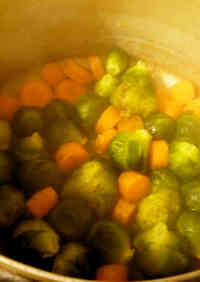 Brussels Sprout & Carrot Butter Simmer