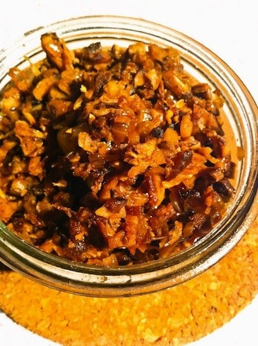 "Vegetarian ""Meat"" Miso with Dried Shiitake Mushrooms"
