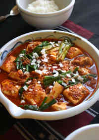 """Korean """"Red Braised Tofu and Scallion."""" How Does Cheap, Delicious, and Fast Sound to You?"""