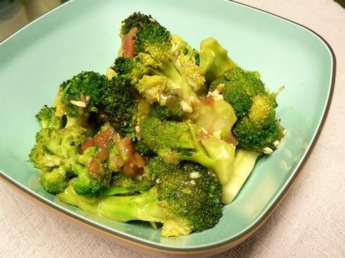 Microwaved Broccoli with Ume and Garlic