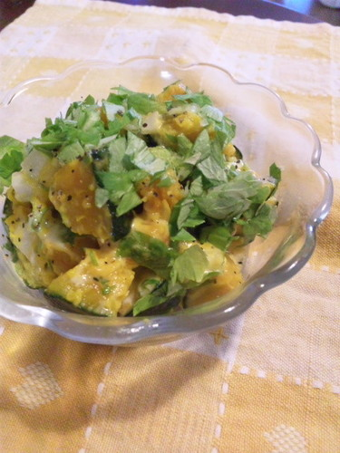 Kabocha Squash and Celery Leaf Salad