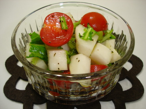 Turnip and Cherry Tomato Salad with Olive Oil