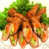 Tri-color Teriyaki Vegetable Rolls