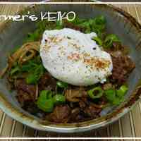 Beef, Egg, and Onion Rice Bowl