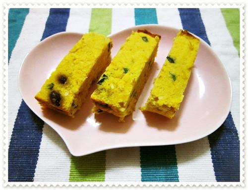Okara, Soy Milk and Kabocha Cake