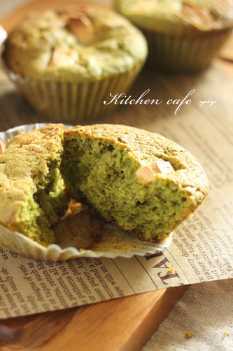 White Chocolate × Matcha Muffins