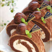 Chocolate Mont Blanc Roll