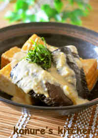 Easy Prep Eggplant and Deep-Fried Tofu Stir-Fry with Sesame and Miso