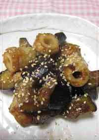 For Your Bento! Sweet and Sour Fishcake Sticks and Eggplant