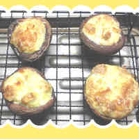 Easy Shiitake Mushrooms with Mayonnaise Baked in the Toaster Oven