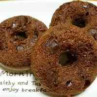 Fluffy, Rich Baked Chocolate Donuts With Pancake Mix