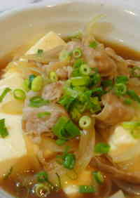 Simmered Tofu and Pork Belly Slices
