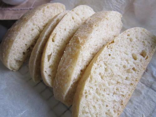 Italian Dinner Roll Ciabatta Made Using a Bread Starter