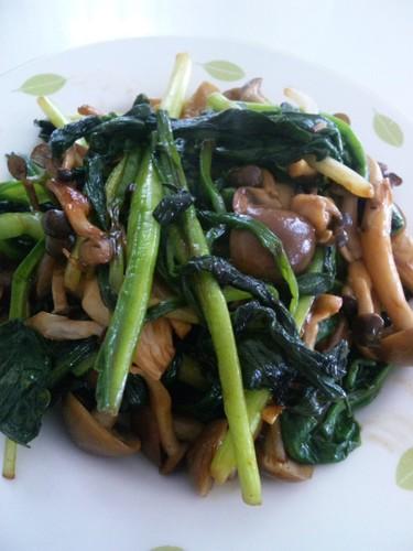 Ramps and Mushroom Consommé Butter Stir-fry