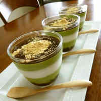 Anko and Matcha Cream Bavarois