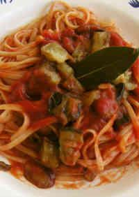 Eggplant and Tomato Pasta