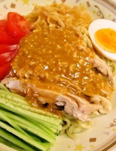 Szechuan Chicken Over Chilled Noodles (Bàng Bàng jī liáng miàn)