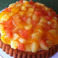 German Dessert: Orange & Grapefruit Tart