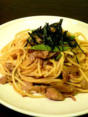 Pasta with Pork and Burdock Root
