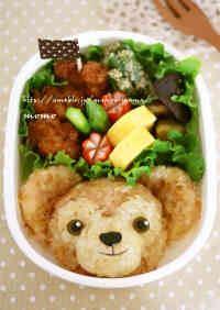 Fluffy Duffy Rice Ball for Bento