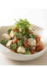 Chunky Okra & Tofu Salad