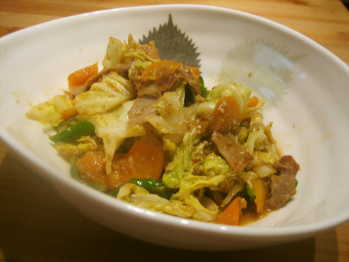 Pan Fried Cabbage with Sesame and Miso Sauce