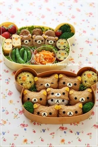 Bento with Rilakkuma Inari Sushi