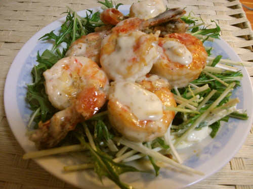 Plump Shrimp-Mayo! Made with Condensed Milk and Mayonnaise