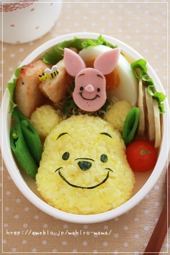 Easy Character Bento- Winnie the Pooh Rice Ball