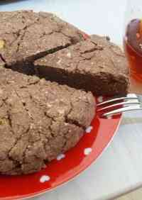 Chocolate & Banana Okara Cake