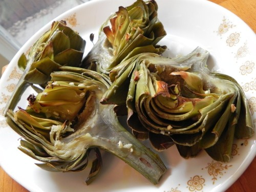 Oven Roasted Artichokes