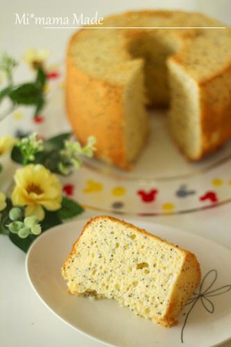 Poppy Seed & Cream Cheese Chiffon Cake