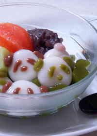 An-mitsu with Panda Shiratama Mochi Dumplings