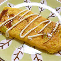 Green Onion and Cheese Omelette