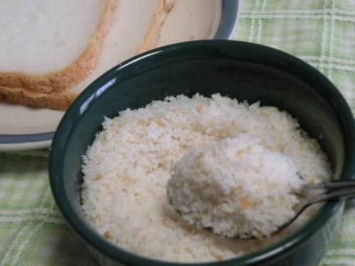 DIY Flour-Free Panko from Rice Bread