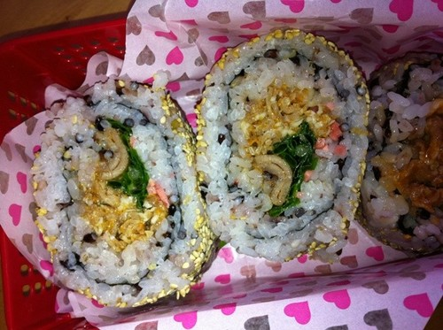 Korean-style Spicy California Rolls with Five Grain Rice