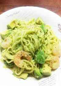 Creamy Pasta with Shrimp and Avocado