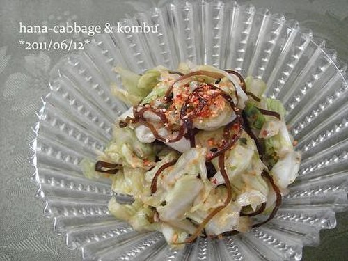 Instant Cabbage and Shio-Konbu Tsukemono Pickles