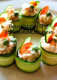 15 Minute Recipe - Crab Salad Wrapped in Cucumber