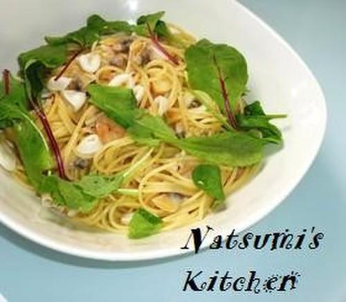 Spaghetti Aglio, Olio e Peperoncino with Refreshing Lemony Seafood