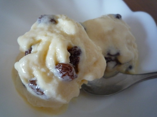 Rum Raisin Ice Cream with Milk and Whole Egg