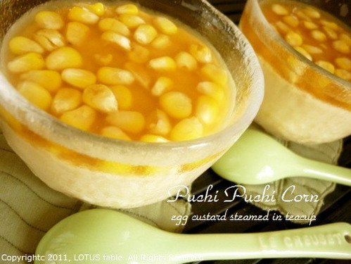 Whole Kernel Corn Chawan-Mushi (Steamed Egg Custard)