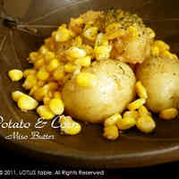 Potatoes and Corn With Miso Butter